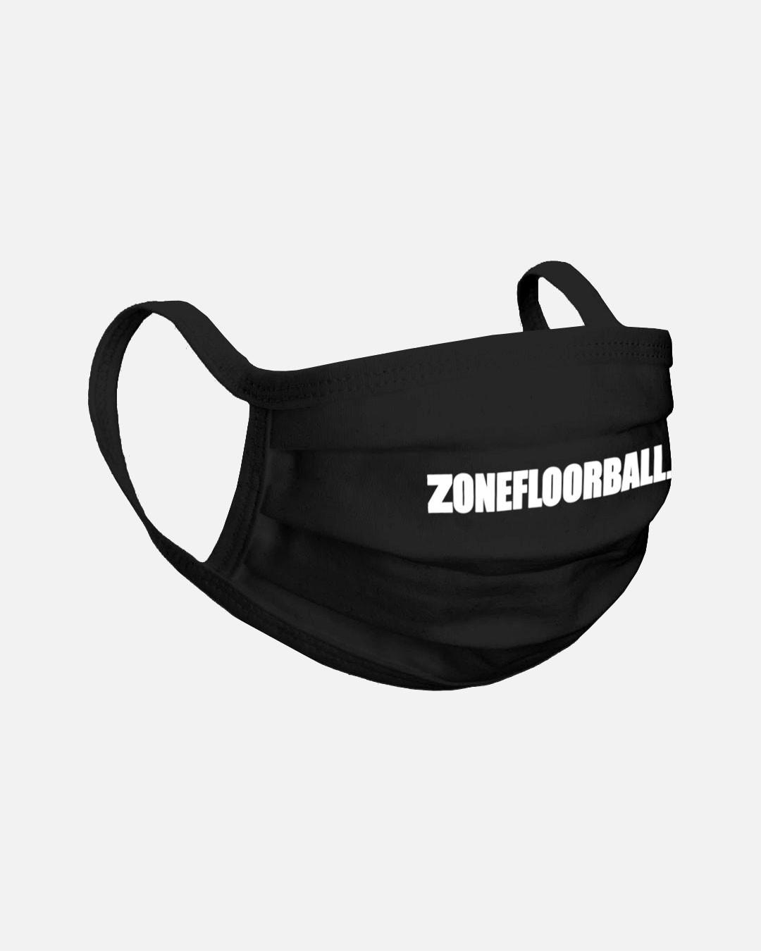 FACE MASK ZONEFLOORBALL SR BLACK BASIC